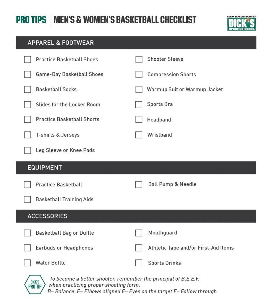 Basketball Checklist