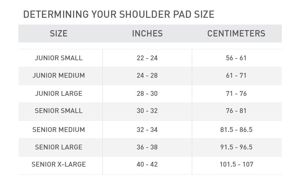 shoulder pad size