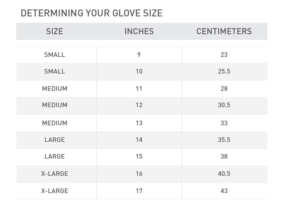 hockey glove size