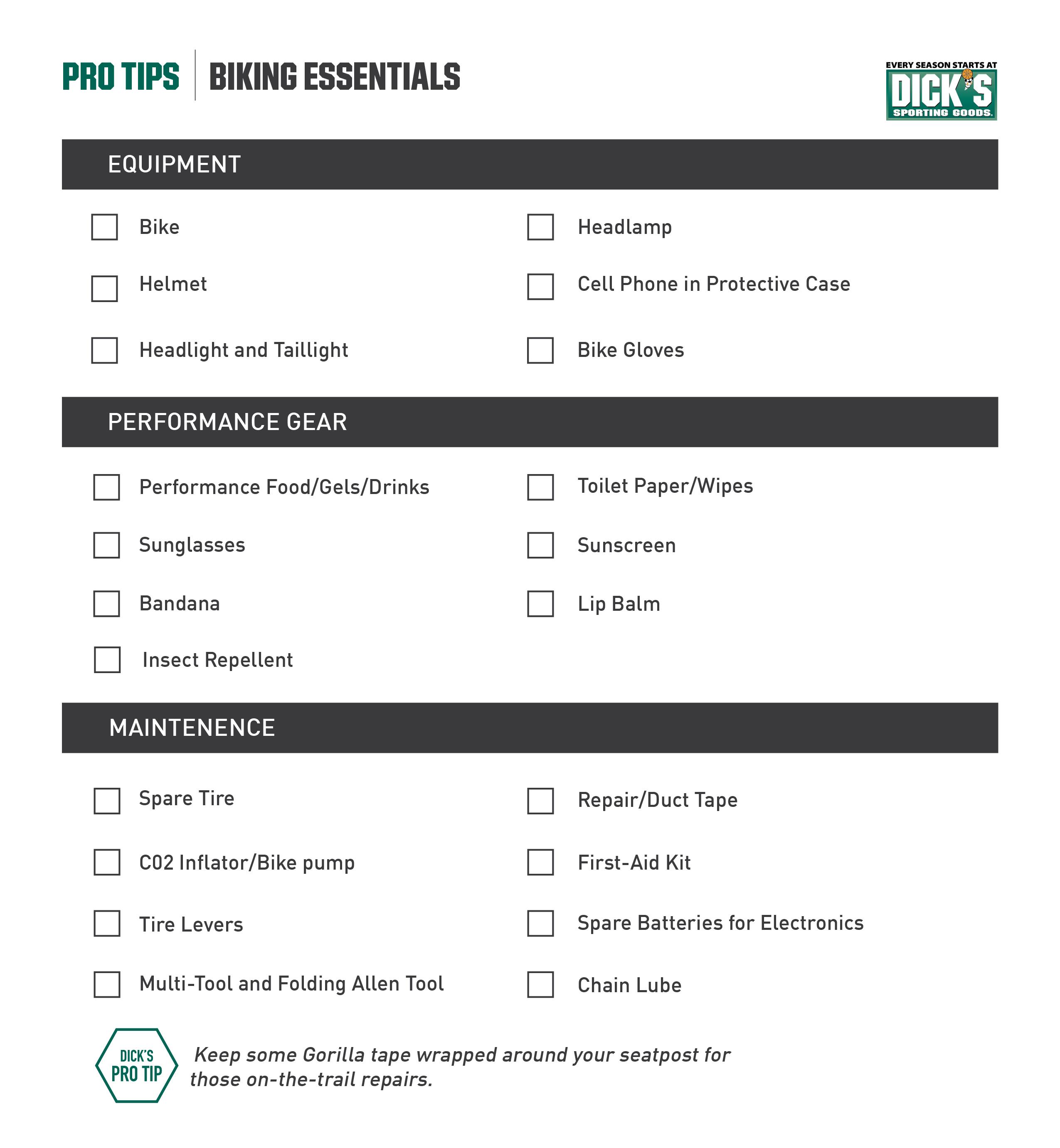 biking checklist