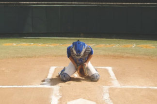 baseball catcher blocking