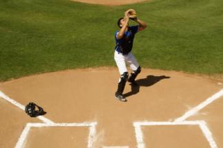 baseball catcher pop ups