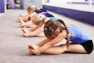 beginner gymnastics class