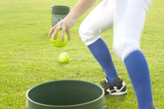 softball shuffle drop drill