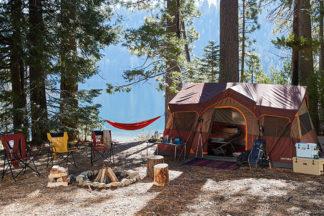 how to setup a campsite