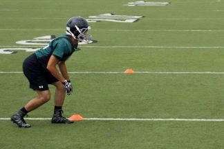 football cone drills