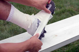 spatting, football cleat tape