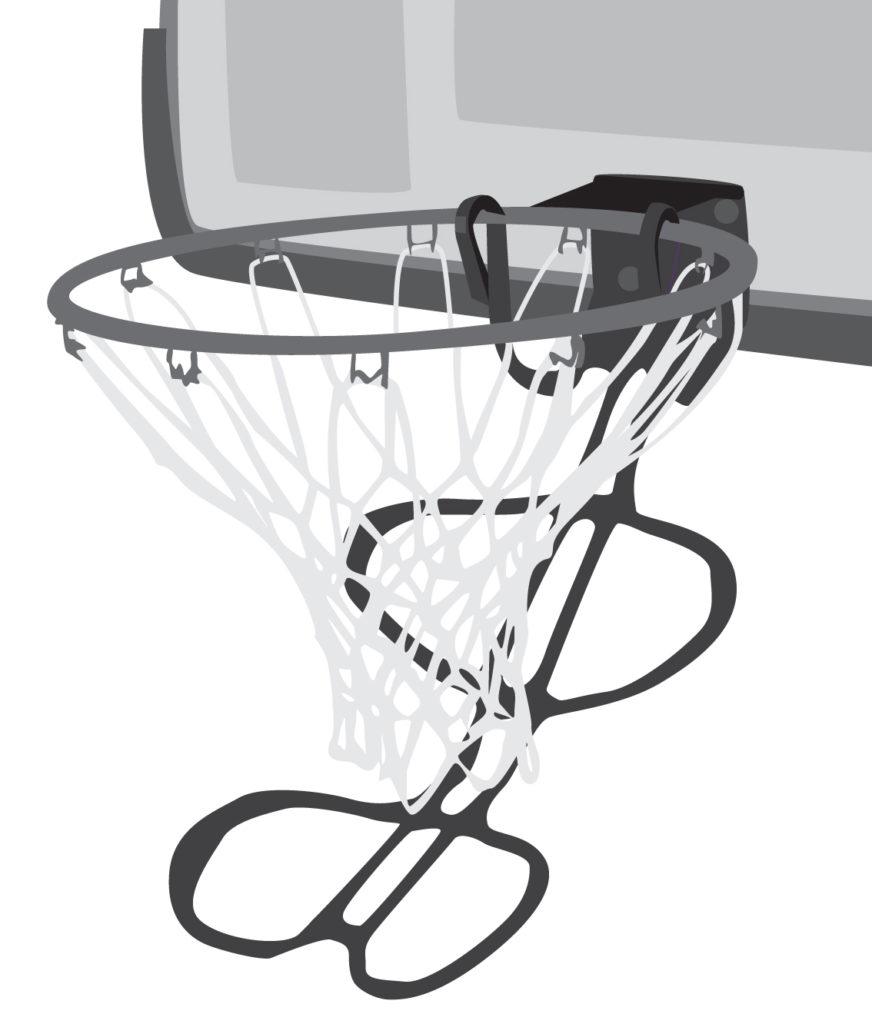 basketball return on rim