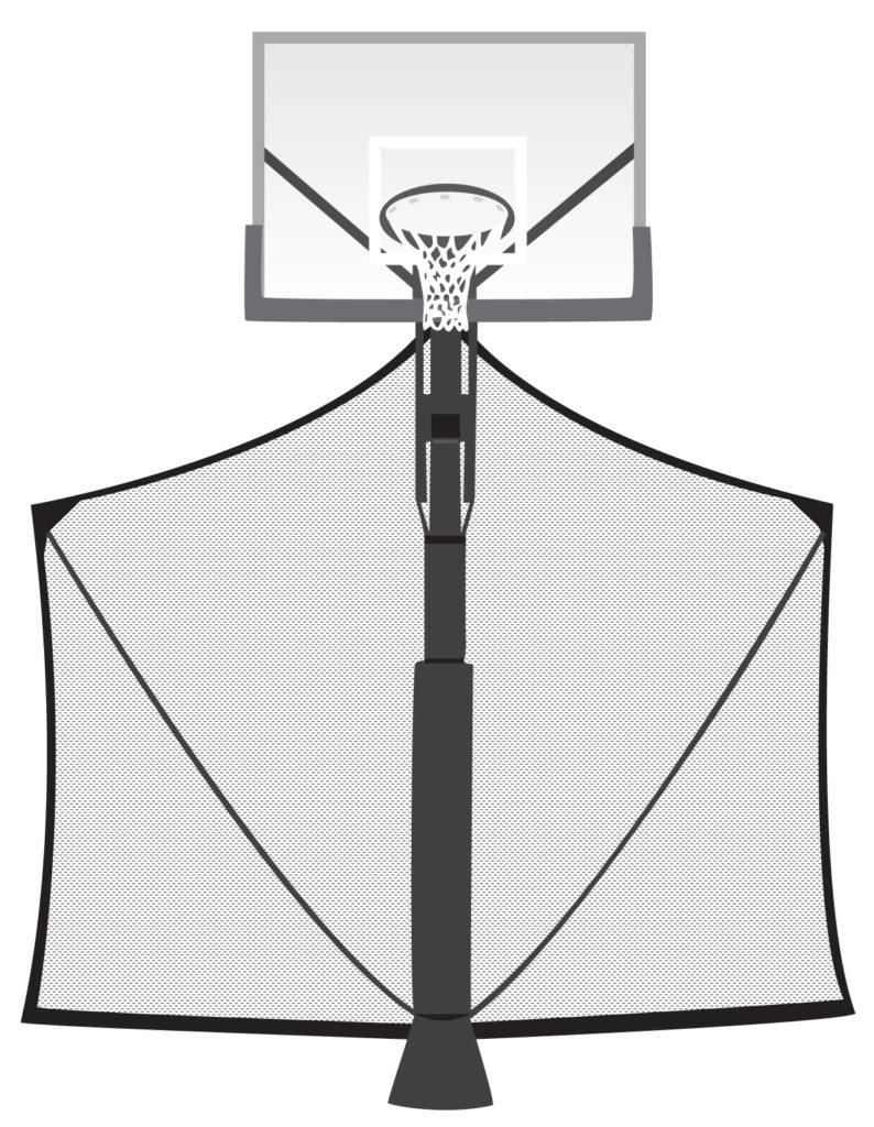 basketball hoop yard guard