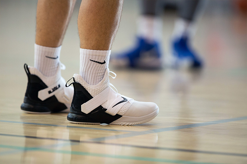 LEBRON SOLDIER XII on a basketball court