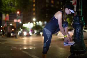Running at Night: Staying Visible