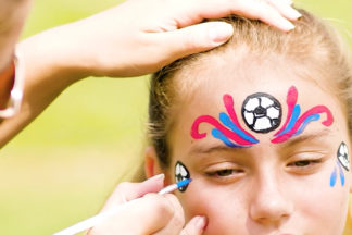 Face Painting Soccer Mask