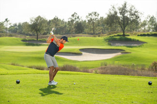 golfer attacking a narrow fairway