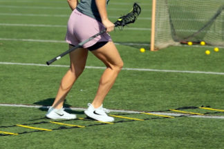 Lacrosse Dodging and Footwork Drill