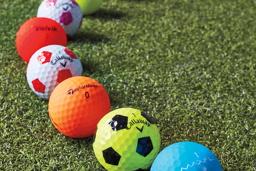 colored golf balls, high vis golf balls