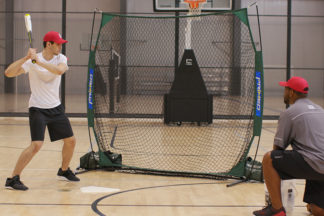 Baseball Hitting Drills Indoor Soft Toss