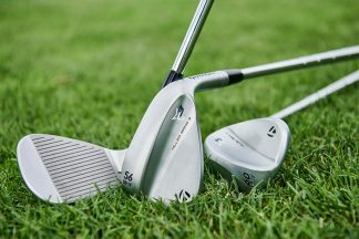 Golf wedges on the course