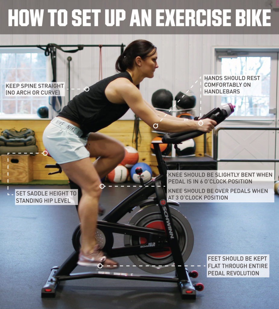 instructions on how to set up an upright exercise bike