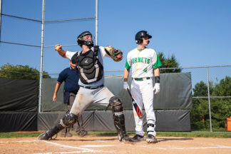 Baseball Catcher Throwing From Home Plate