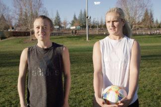 Emily Sonnett and Lindsey Horan