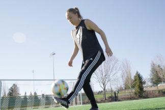 Emily Sonnett Juggling Soccer Ball