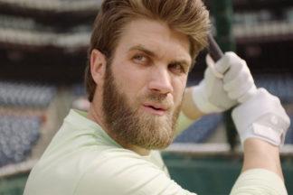 Professional Baseball Player Bryce Harper Taking Batting Practice