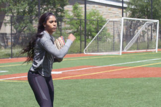 Professional Softball Player Aleshia Ocasio On Field