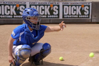 Softball Catcher Practicing Ball In Hand Drill