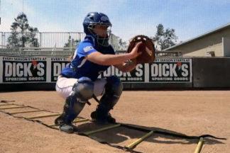 Softball Catcher Performing Ladder Drill