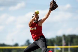 Softball Pitcher Throwing Softball