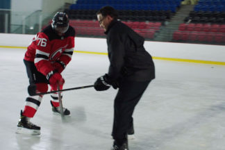 Professional Hockey Player P.K. Subban Practicing Gap Control