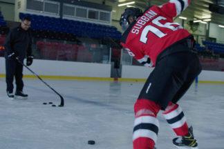 Professional Hockey Player P.K. Subban Taking A Slap Shot