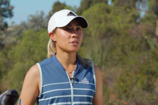 Danielle Kang wearing adidas golf apparel