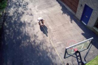 Driveway Basketball Court