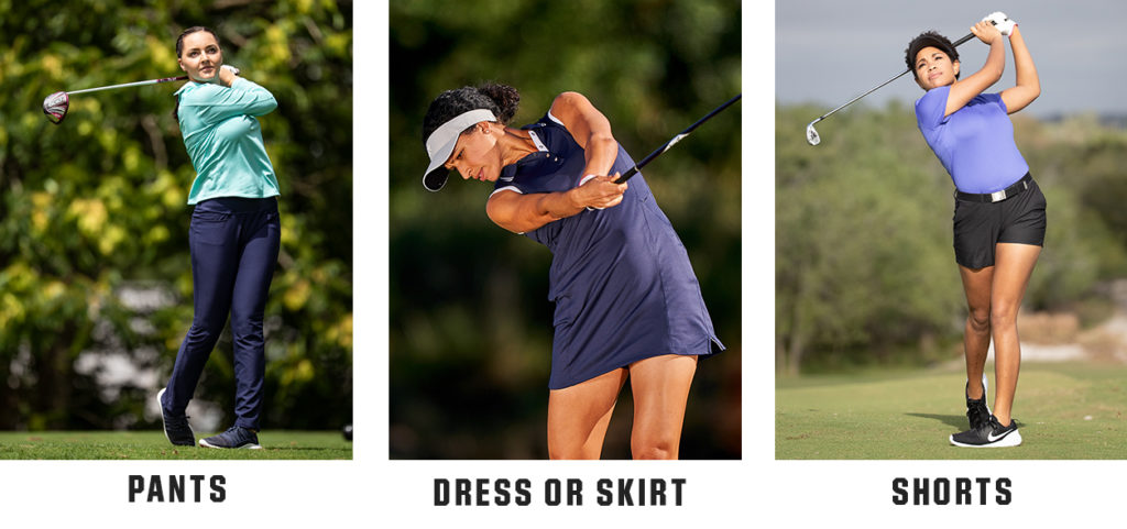 women's golf clothing options for women of what to wear on the golf course