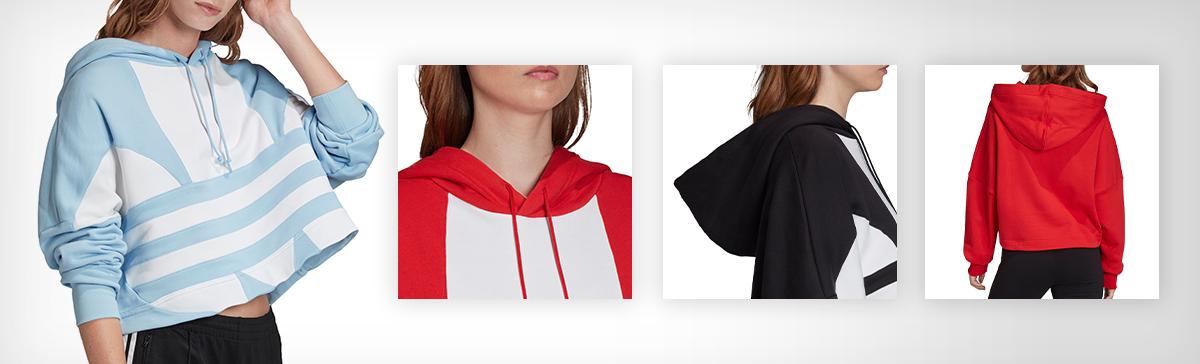 adidas Originals Women's Large Logo Cropped Hoodie