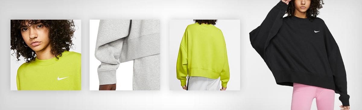 Nike Women's Sportswear Essential Fleece Cropped Crew