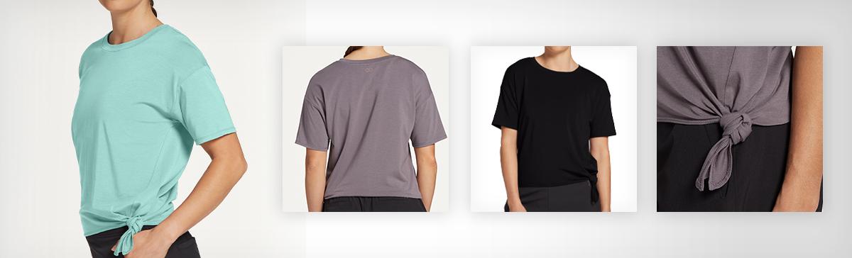 CALIA by Carrie Underwood Women's Side Tie T-Shirt