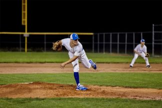 Baseball Pitcher Throwing On Mound
