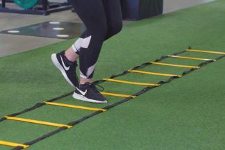 Athlete Using Agility Ladder