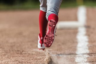 Baseball Player Running On Basepath