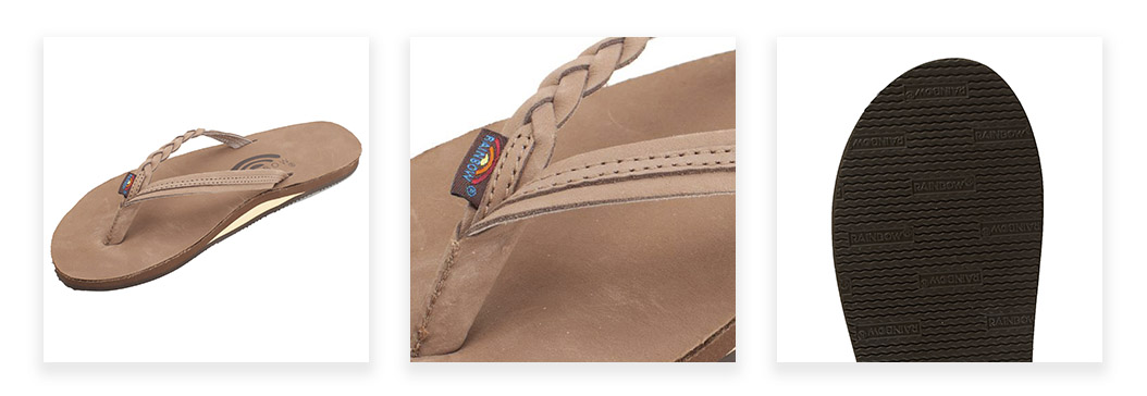 Rainbow Women's Leather 301 Flip Flops