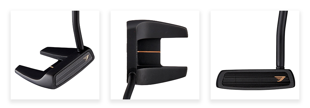 Tommy Armour Impact Series No. 3 Alignment Putter - Black Shaft