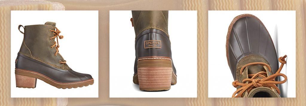 Sperry Women's Saltwater Heel Leather Duck Boots