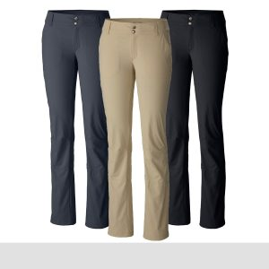 Columbia Women's Saturday Trail Roll-Up Pants Combine performance and comfort this holiday season with the Columbia Women's Saturday Trail Roll-Up Pants. Omni-Shield and Omni-Shade technologies work seamlessly to keep your adventurer protected from bugs and harmful rays. Articulated knees and gusset detail also help ensure they can move comfortably throughout their adventures. Your hiker can even switch up their outdoor look by rolling these hiking pants up into fashionable capris. Give the gift of style this year with the Columbia Women's Saturday Trail Roll-Up Pants.  Shop the Columbia Women's Saturday Trail Roll-Up Pants