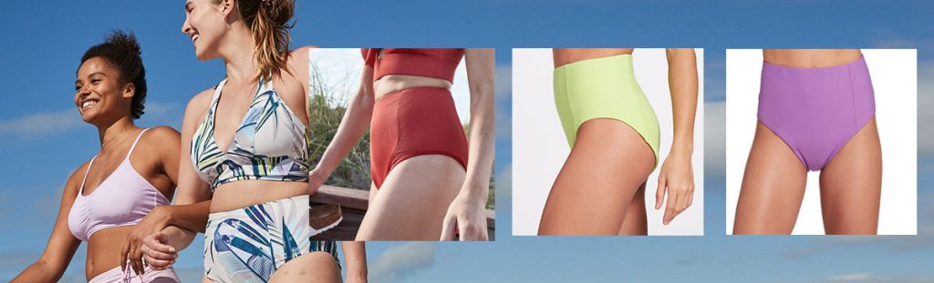 1. CALIA by Carrie Underwood Women's High Rise Sculpting Swim Bottoms