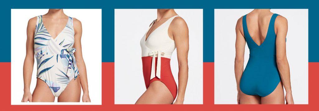CALIA by Carrie Underwood Women's Wrap Tie One Piece Swimsuit