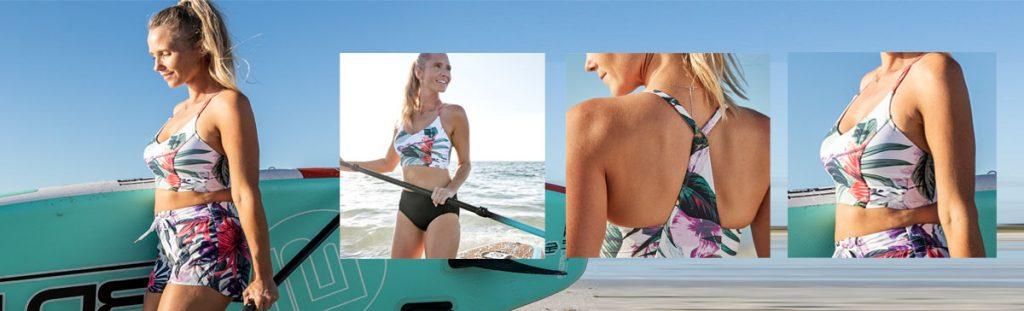 CALIA by Carrie Underwood Women's Weave Bikini Top