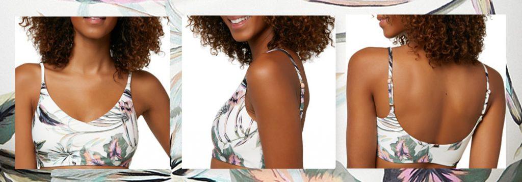 O'NEILL Women's Trestles Aloha Floral Bikini Top