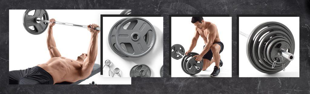 Weider 300 lbs. Cast Iron Weight Set with Hammertone Finish